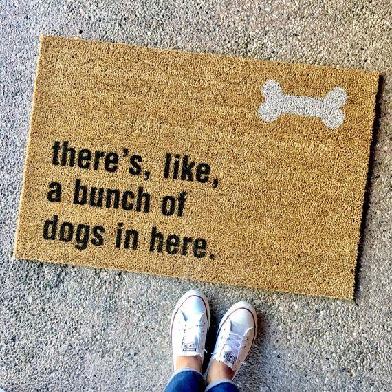 The Bunch Of Dogs In Here Doormat