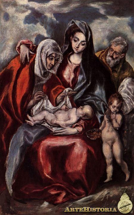 La Sagrada Familia Con Santa Ana Y San Juanito El Greco El Greco Paintings El Greco National Gallery Of Art