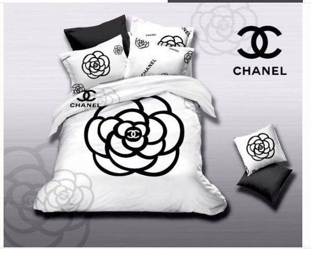 chanel bettw sche g nstig billig gut preiswert king size baumwolle bed set 6 teilig unbedingt. Black Bedroom Furniture Sets. Home Design Ideas