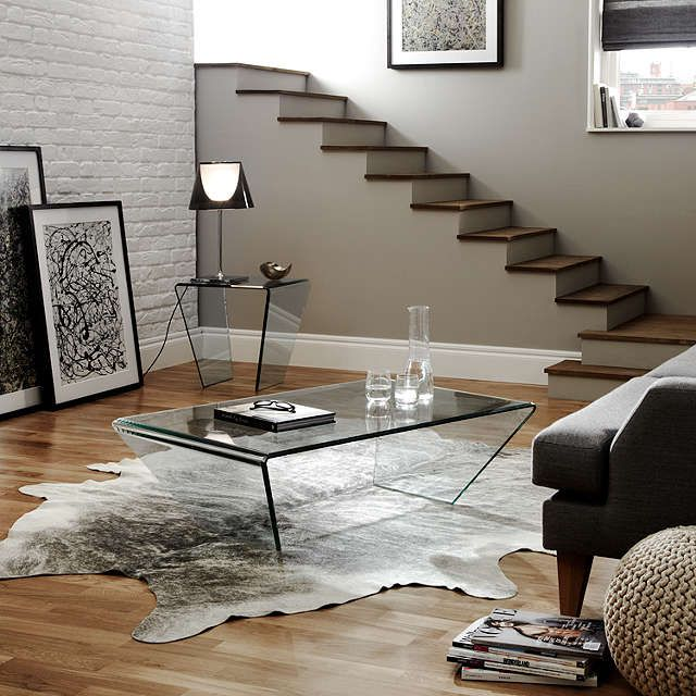 John Lewis Partners Curvo Glass Coffee Table Coffee