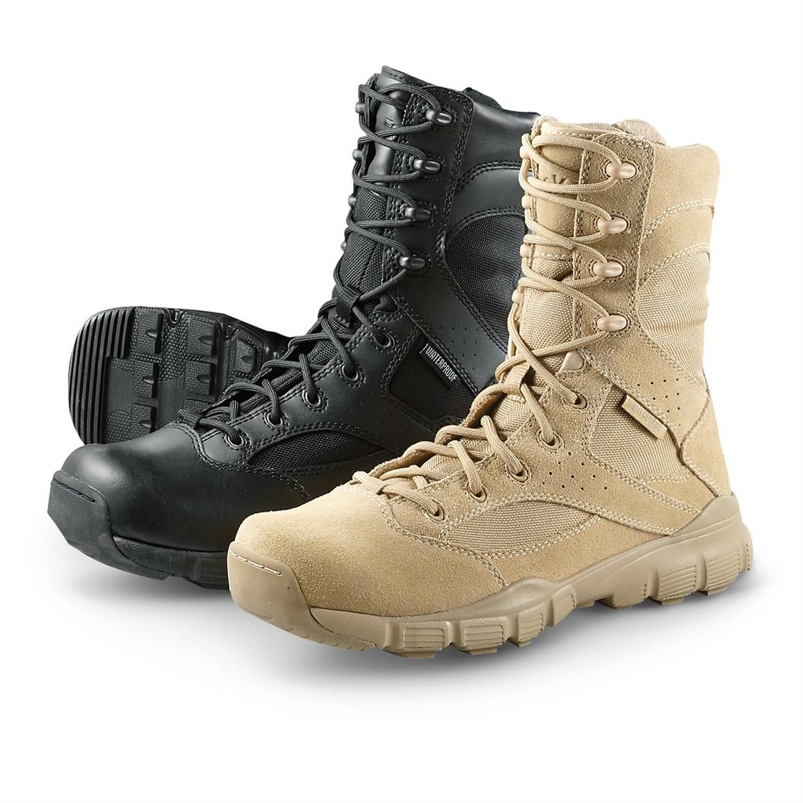 c842d668e42c07 Men's Reebok Dauntless Waterproof Duty Boots • Black or Tan | 365 ...