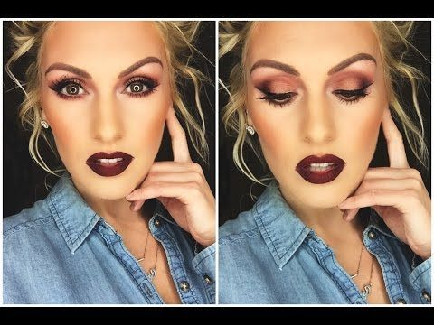 fall makeup tutorial  hazel green blue eyes  youtube