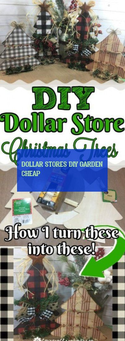 Dollar Stores diy garden cheap