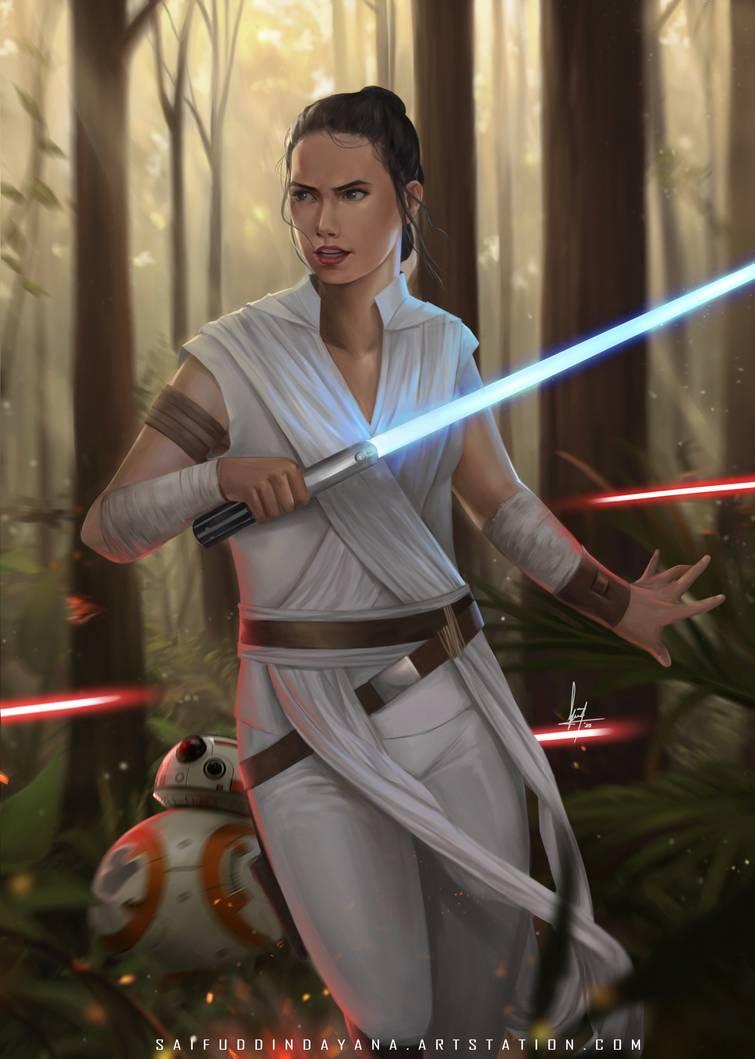 Rey Skywalker By Saifuddindayana On Deviantart Skywalker Star Wars Art Rey