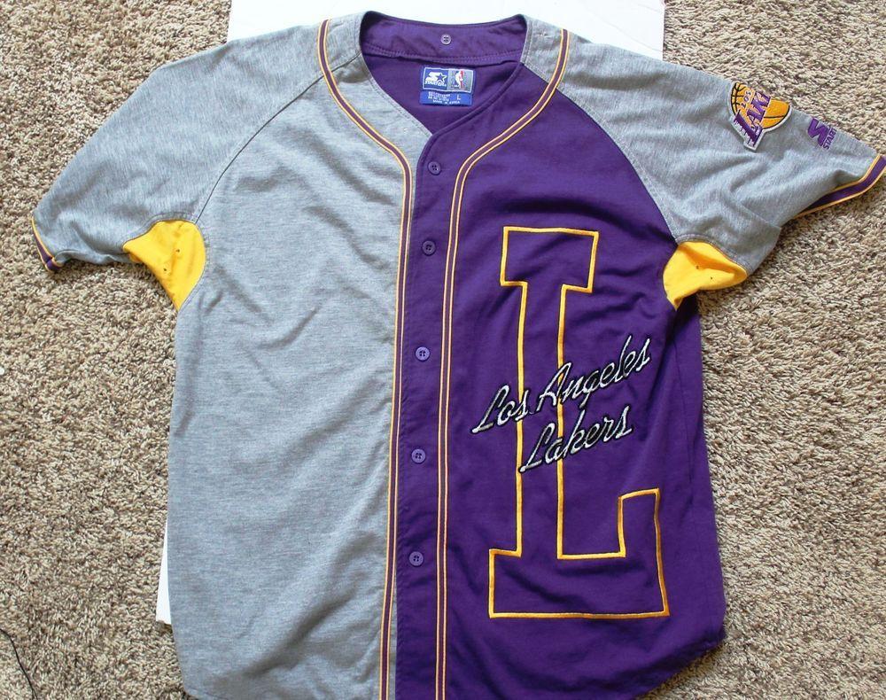 lakers starter baseball jersey jersey on sale