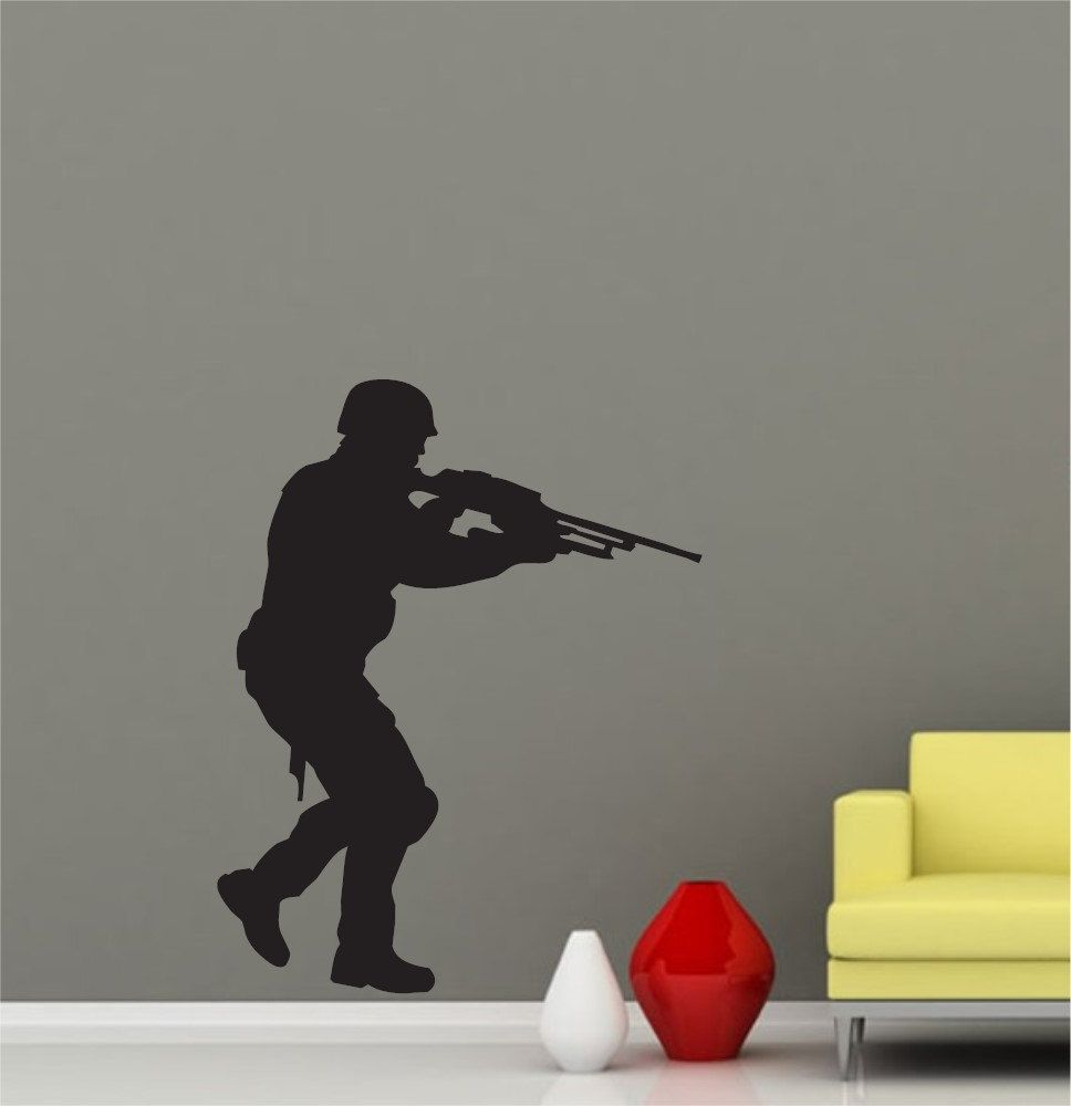 Cool Military Soldier Army Men Graphic Art Wall Decals Stickers Home Decor 001 Art Wall Wall Decals And Stickers Wall Decals [ 1000 x 968 Pixel ]