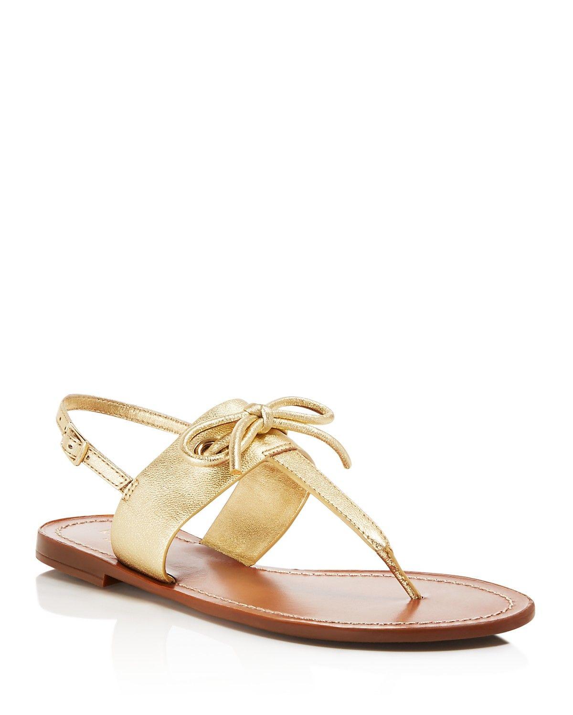 887b4eff8 kate spade new york Carolina Metallic Thong Sandals
