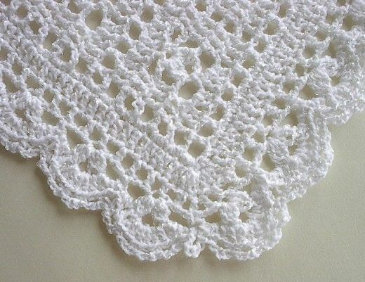 Baby Afghan Blanket - Crocheted Snowy White Christening ...