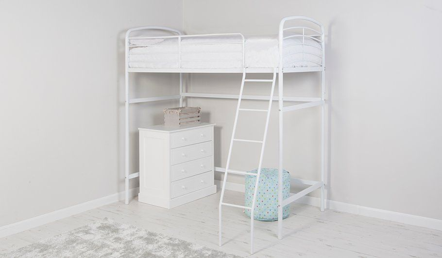 Buy George Home Metal High Sleeper Bed White From Our Beds Range