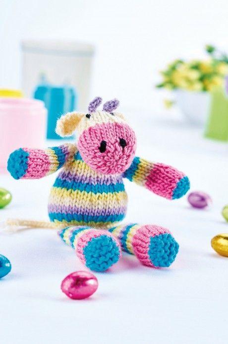 Use your DK yarn stash to knit our brilliant bovine! | muñecos ...