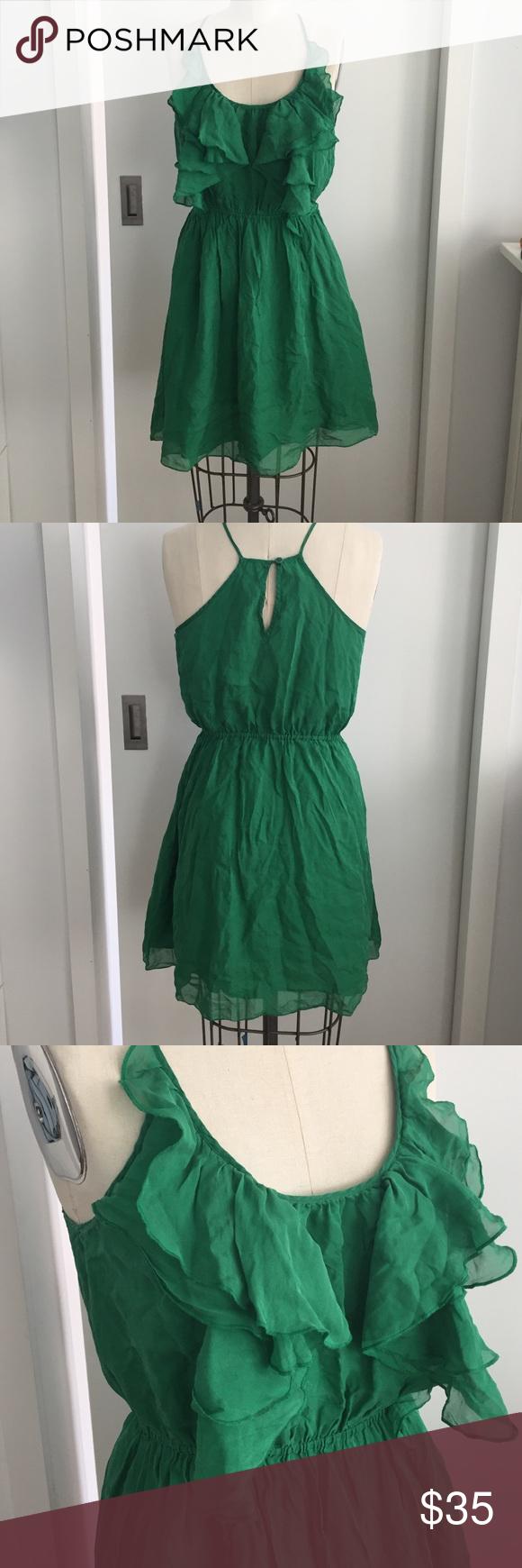 Rebecca Taylor 100% silk ruffle dress Gorgeous 100% silk chiffon ruffled dress by Rebecca Taylor. Fully lined. Elastic waist. Rebecca Taylor Dresses