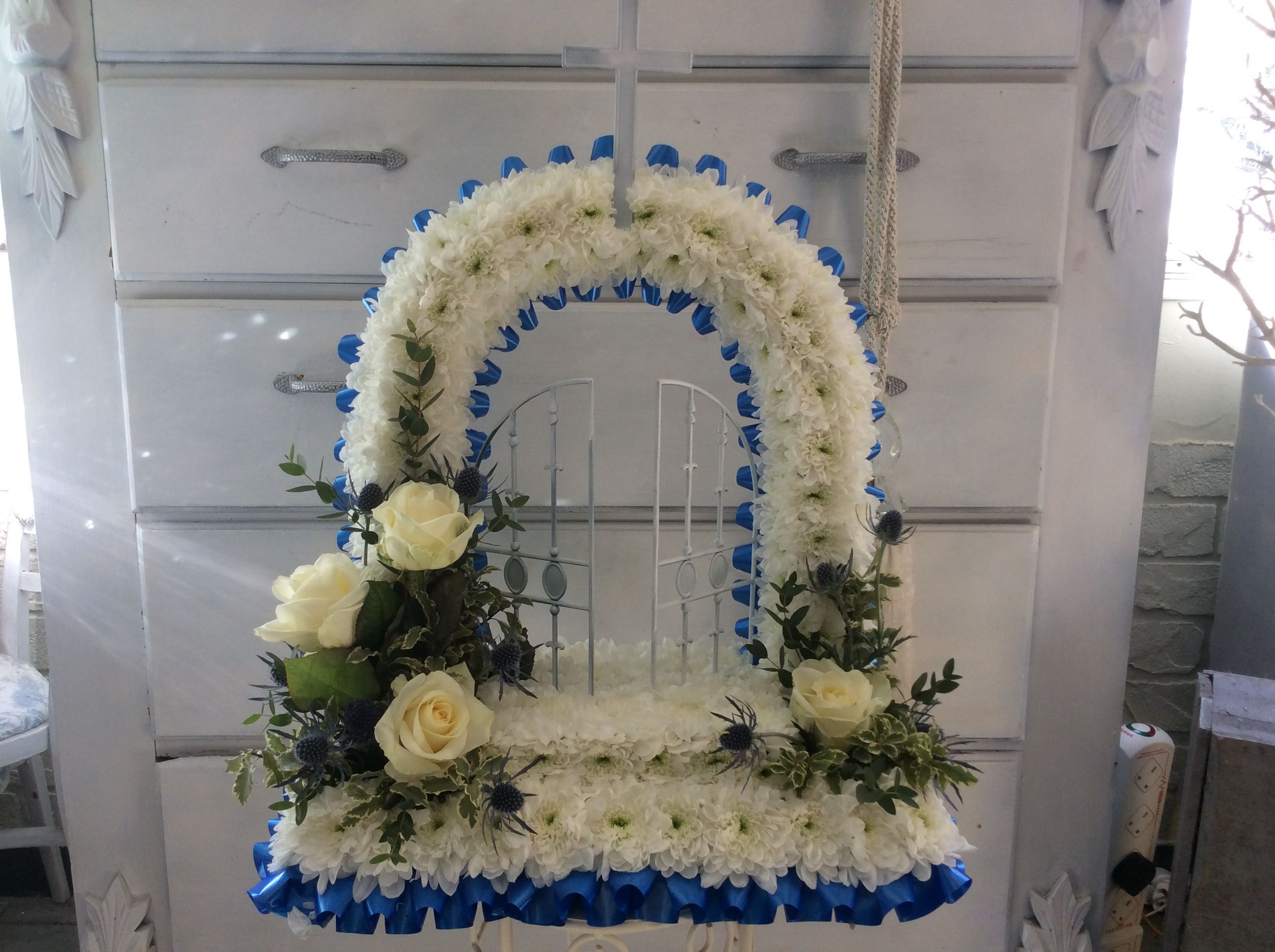 Gates of heaven funeral flowers construction paper pinterest gates of heaven funeral flowers izmirmasajfo