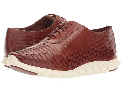 Cole Haan Zerogrand Huarache Oxford (Brown Leather) Women's Lace up casual  Shoes