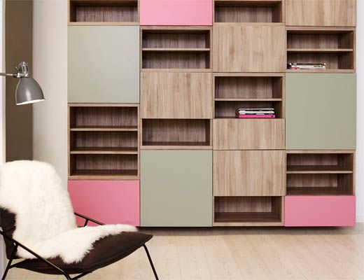 best wandkast voor kinderkamer om speelgoed in op te ruimen in de kleuren groen en roze. Black Bedroom Furniture Sets. Home Design Ideas