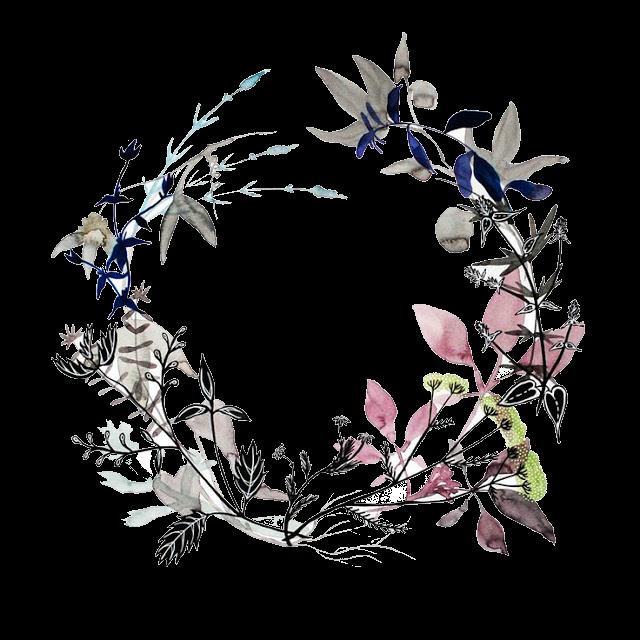 Transparan Png Bunga Cat Air Doodle Bunga Mahkota Bunga