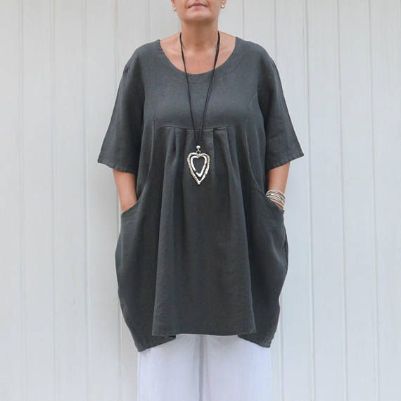 30aa952fbcd Womens Lagenlook Plus Size Shirt