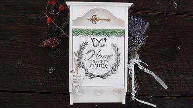 Krabičky - Skrinka na kľúče Home sweet home. - 6791609_