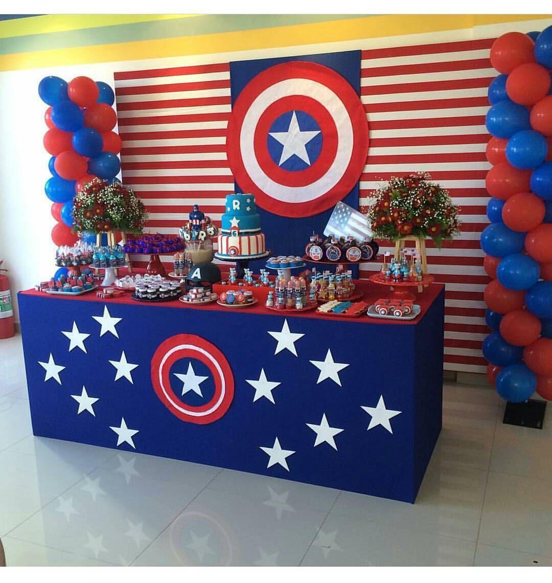 Centro De Mesa Capitán América: Pin De King & Co Event Design Em Super Hero Theme