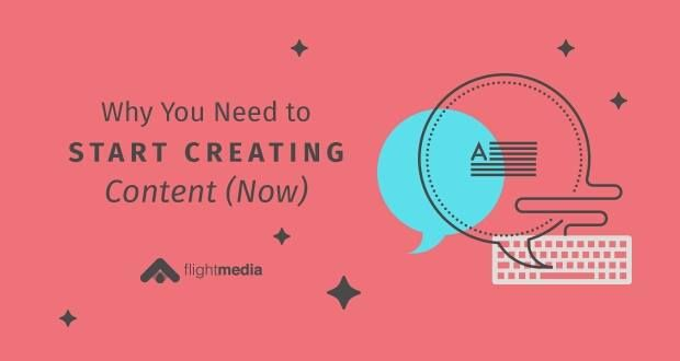Why You Need to Start Creating Content (Now) - Flight Media Blog  http://buff.ly/2rMF6HU