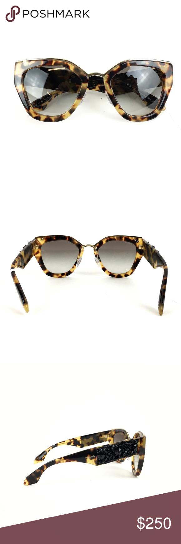 747d318e3ba Prada SPR 10T Sunglasses These Stunning Limited Edition Prada Cinema Cat  Eye Sunglasses feature a beautiful