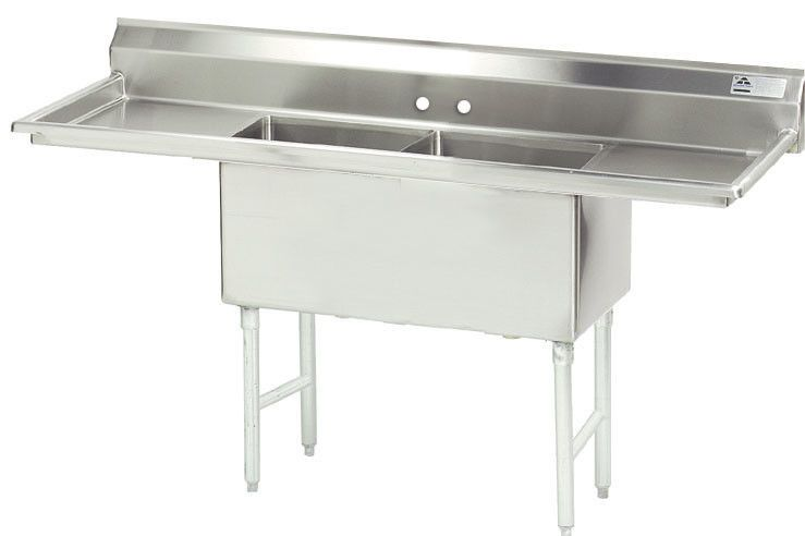 Advance Tabco 96 X 30 Double Fabricated Bowl Scullery Sink