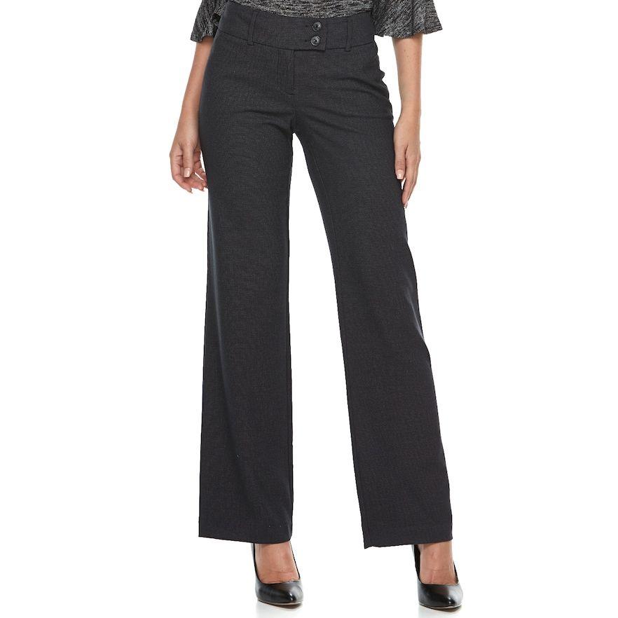a82071691dd3c Women s Apt. 9® Modern Fit Midrise Wide-Leg Dress Pants