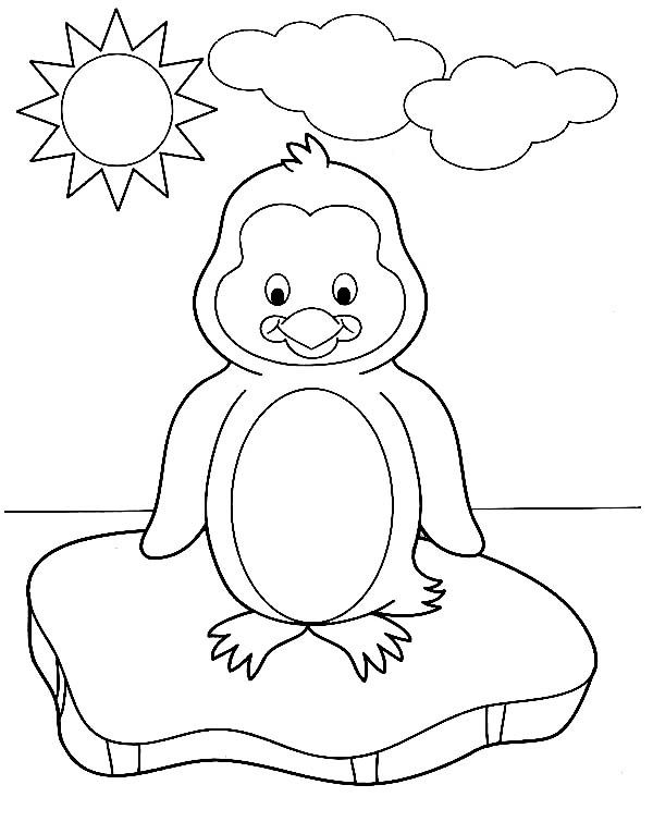 Cute Penguin Coloring Pages and Sheets http://freecoloring-pages.org ...