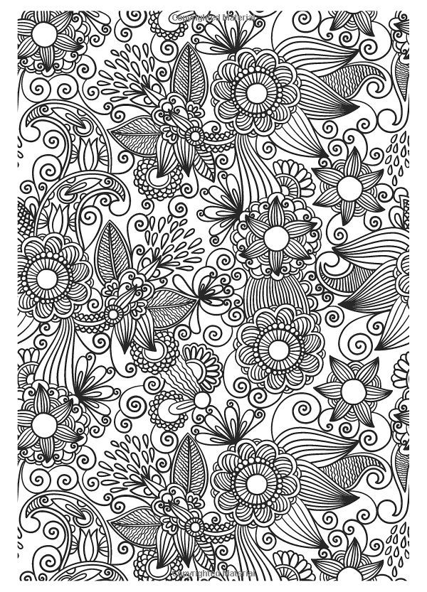 Flower Abstract Doodle Zentangle Coloring pages colouring adult ...