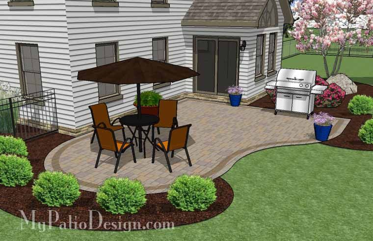 Start Enjoying The Outdoors In Style With Our Cheap Backyard Patio Design.  Areas For Large