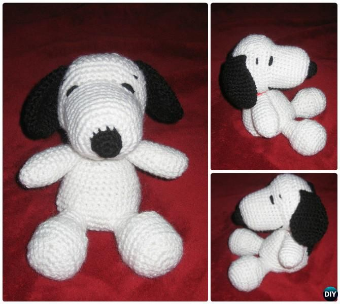 DIY Crochet Amigurumi Puppy Dog Stuffed Toy Free Patterns   Patrones ...