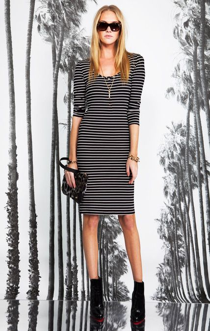 Monochrome Striped Bodycon #Dress I Striped Print #Fashion #Trend for Fall Winter 2013 I Juicy Couture  #fall2013 #trendy #print