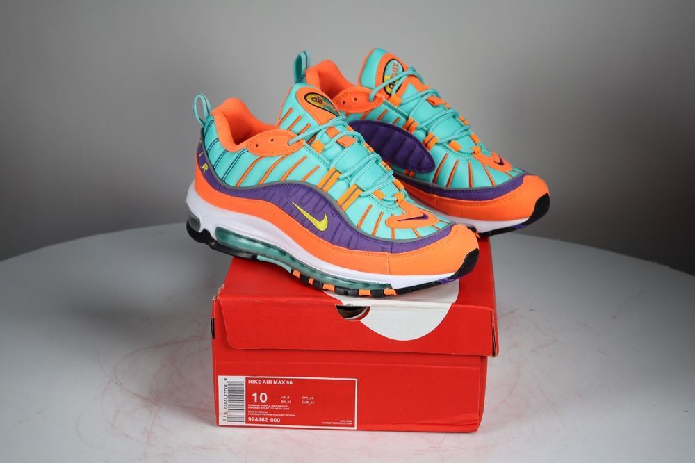 low priced 947e9 57c79 Nike Air Max 98 Cone   Tour Yellow   Hyper Grape size 10 shoes 924462 800