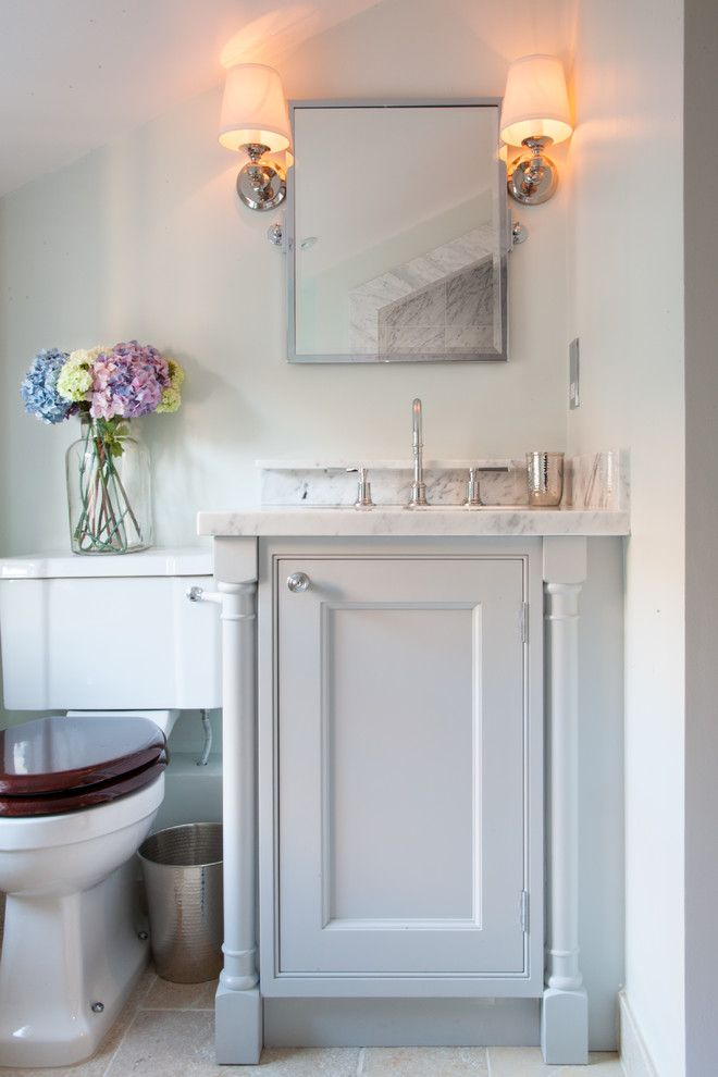 Small Bathroom Vanities Powder Room Traditional With Colour Scheme Downstairs Toilet