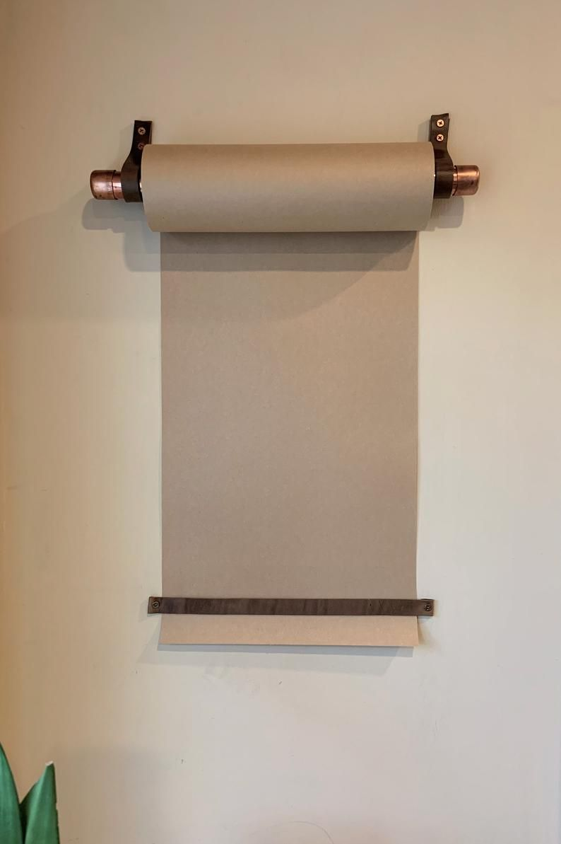 Hanging Note Roll Paper Roll For Walls Kraft Paper Holder Etsy In 2020 Kraft Paper Paper Dispenser Brown Paper Roll