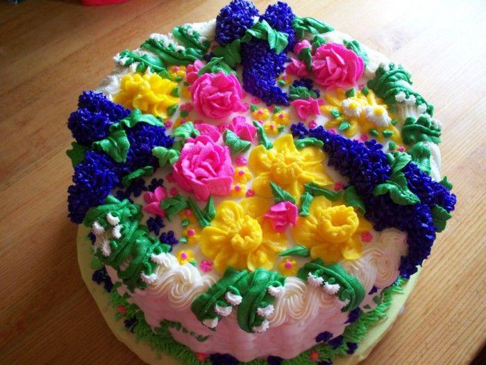 Kids birthday cake colorful flowers Birthday Cake Pinterest