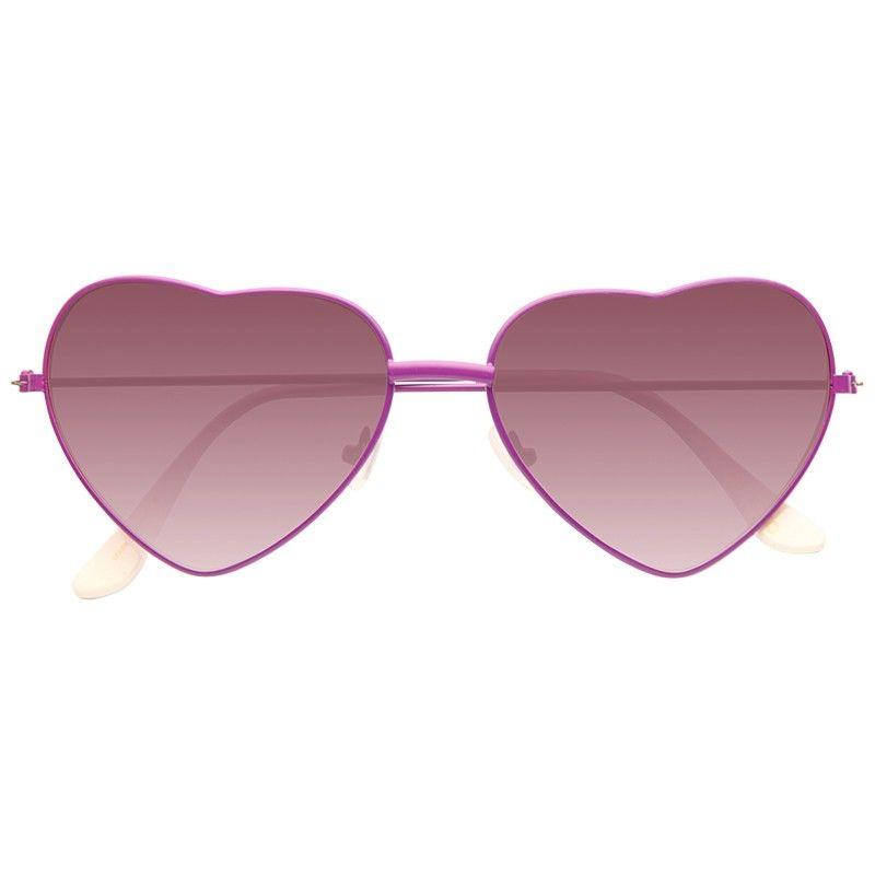 Katy 3 Metal Frame Heart Gradient Sunglasses | Novelty sunglasses ...