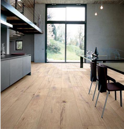 Groot formaat houtlook tegels geven je ruimte een dynamisch effect - bodenbelag für küche
