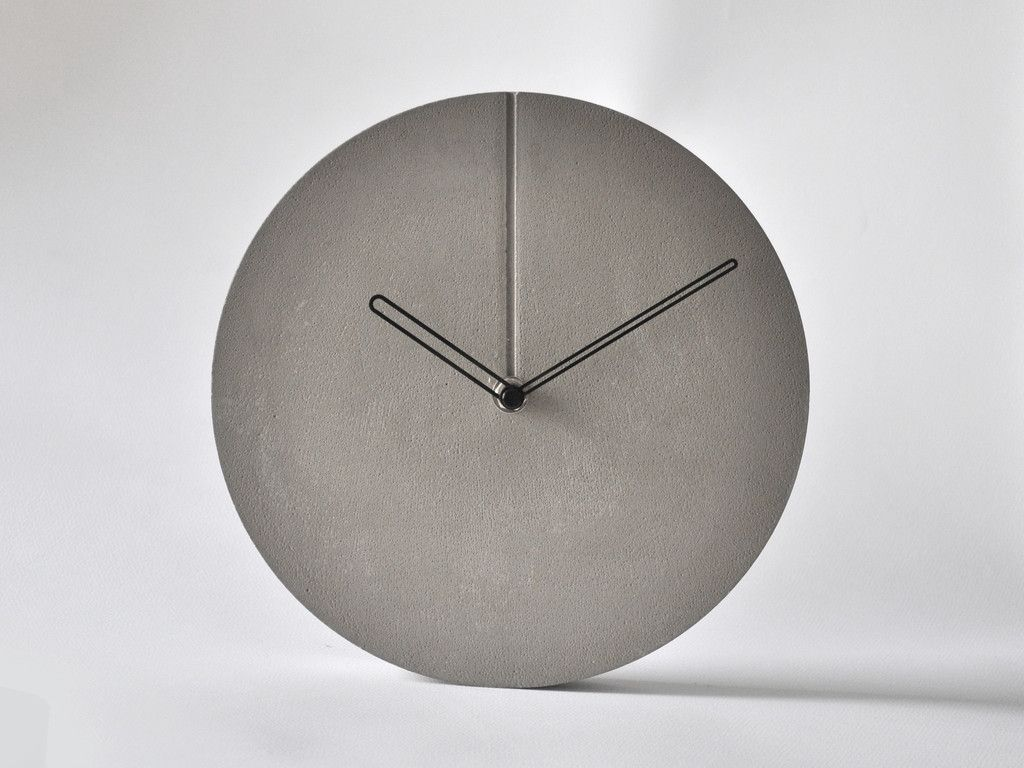 concrete minimal wall clock c o n c r e t e. Black Bedroom Furniture Sets. Home Design Ideas