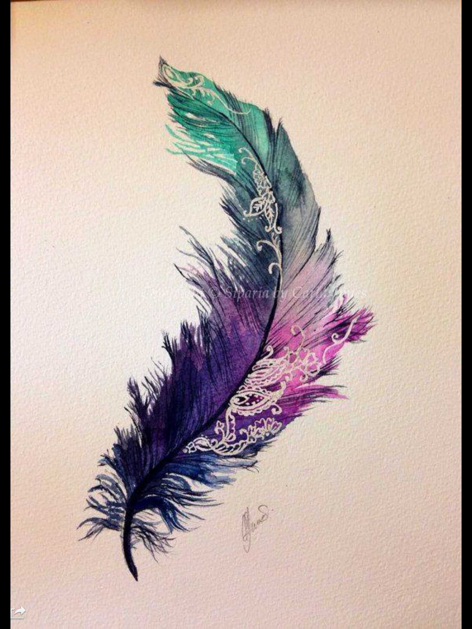 multi toned feather ink pinterest tattoo ideen aquarell tattoo und feder tattoo. Black Bedroom Furniture Sets. Home Design Ideas