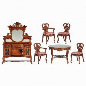 Dollhouse Dining Room Furniture 1 Scale Miniature Kensington Made In The