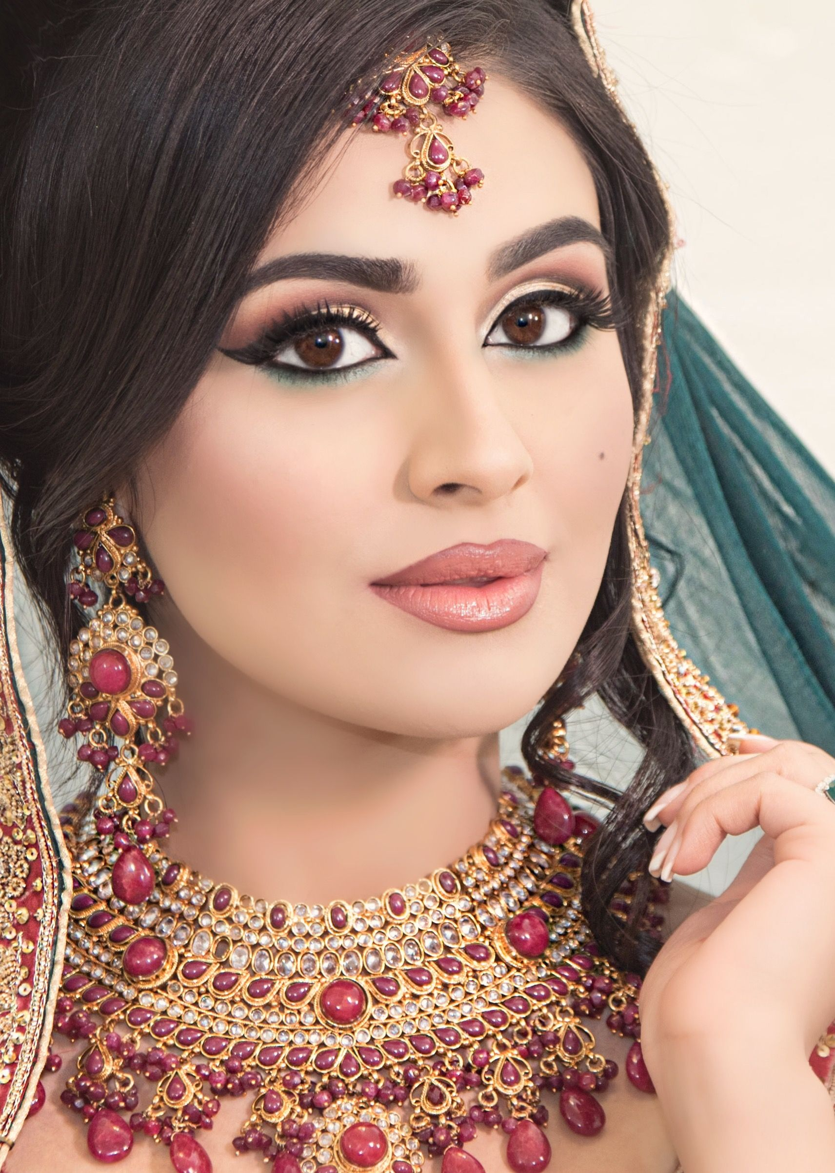 traditional pakistani bride! hair and makeup by ss bridal