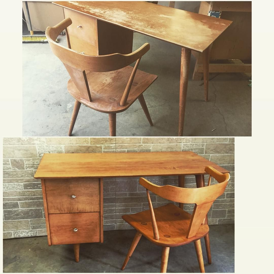 Captivating Before/ After Paul McCobb Planer Group Desk And Chair.