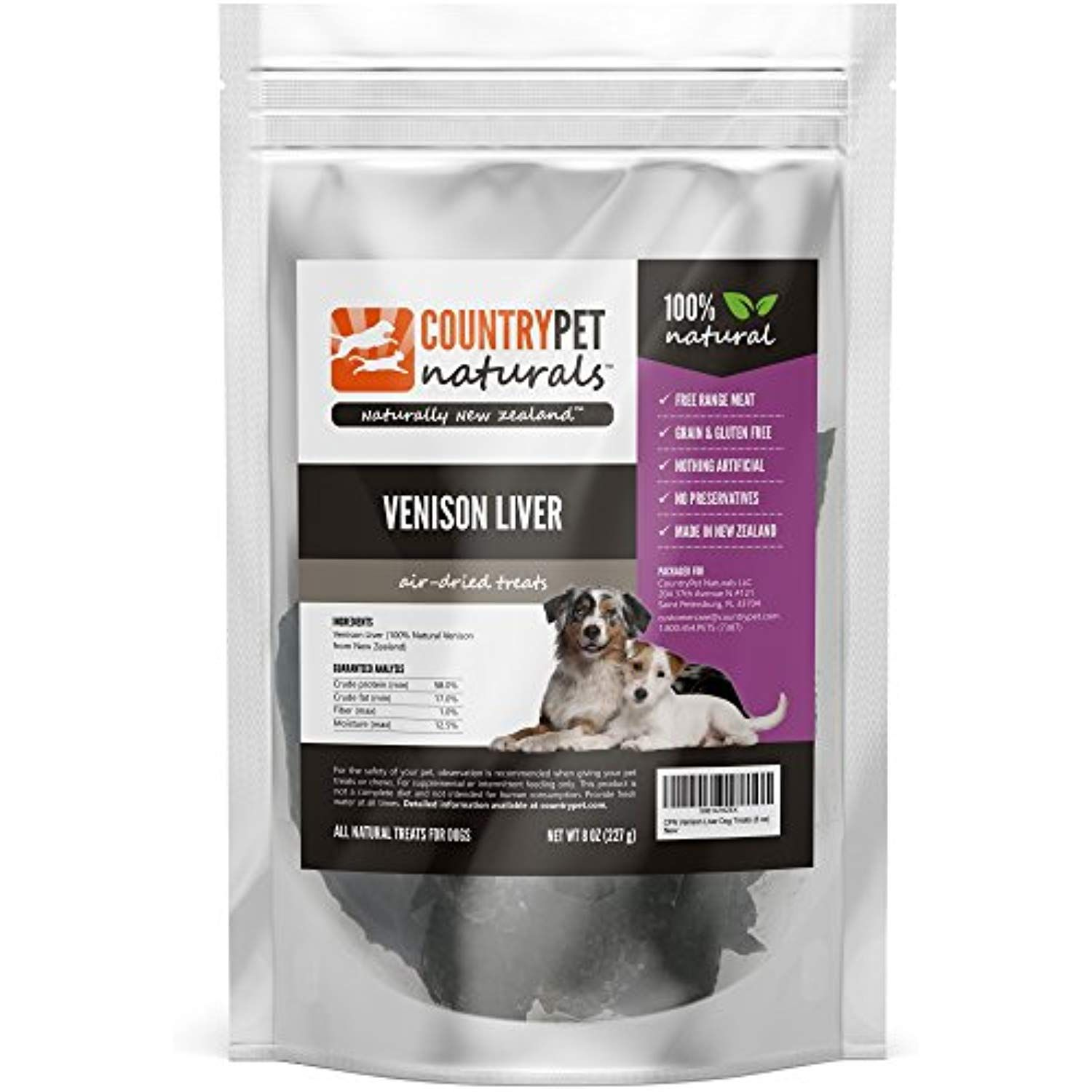 Venison Liver Treats For Dogs By Countrypet Naturals 8 Ounces