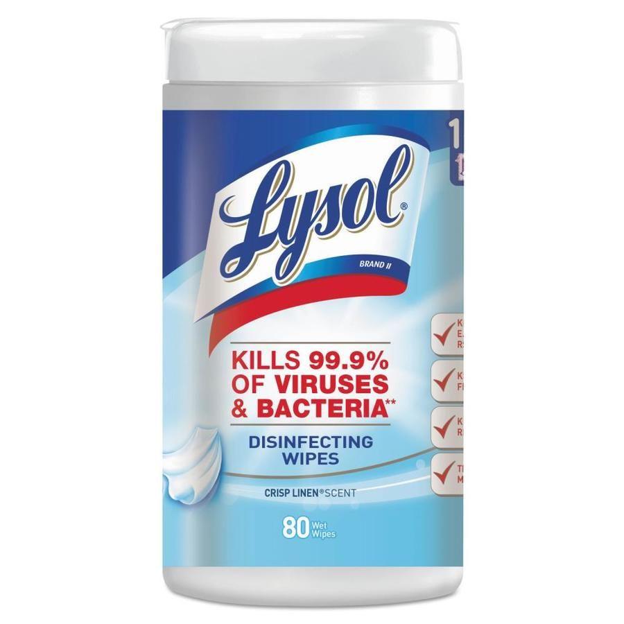 Lysol 6-Pack Non-Woven Fiber Detergent Wet Wipe Rac89346ct ...