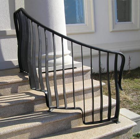 Best Outside Stair Handrails Jozef Custom Ironworks Iron 400 x 300