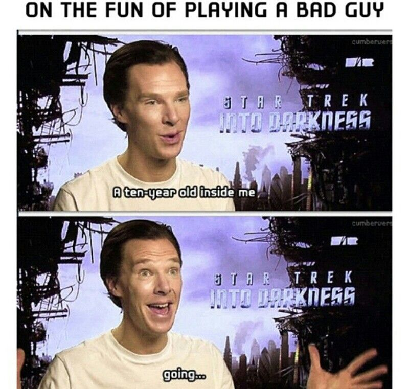 Benedict Cumberbatch, on the fun of playing a bad guy.