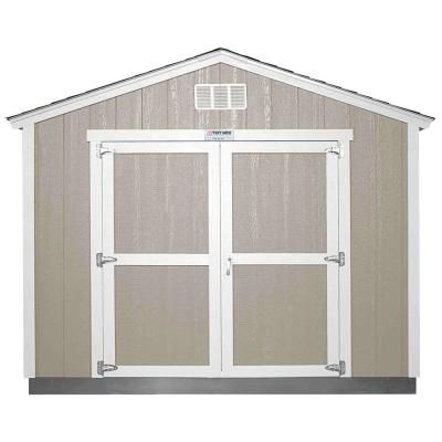 Tuff Shed Installed Tahoe Tall Ranch 10 Ft X 12 Ft X 8 Ft 10 In Painted Storage Building With Shingles And Endwall Double Door Grays Tuff Shed Wood Shed Plans Storage Shed Kits