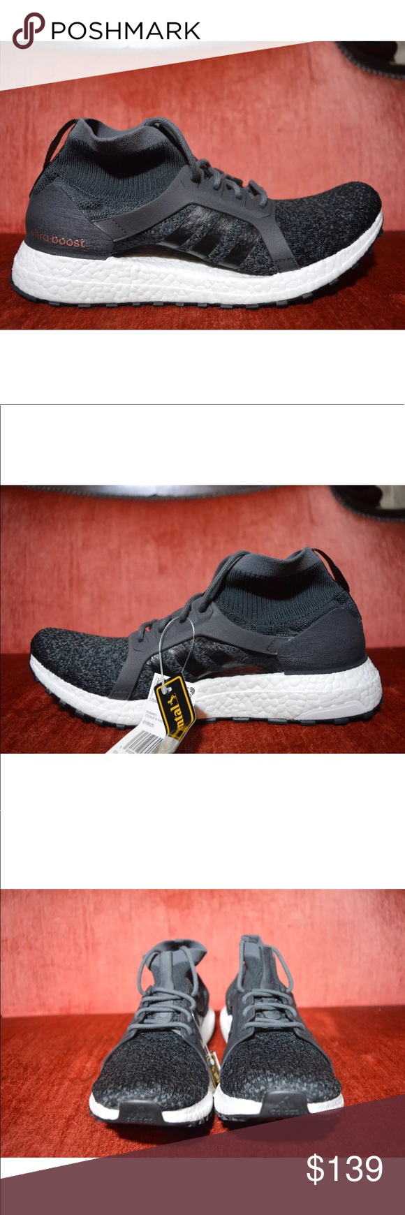 d1dff1cd6 Adidas Womens UltraBoost X Shoes Carbon Black Sz 7 Adidas Women s  UltraBoost X All Terrain Running Shoes Carbon Black Sz 8 BY8925 new with  out box adidas ...