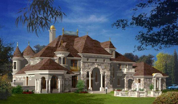 Castle Luxury house plans  manors chateaux and palaces in European period Styles