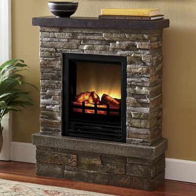 Rustic Retreat Electric Fireplace Fireplace Artificial Fireplace Faux Stone Fireplaces